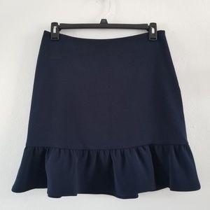 Tommy Hilfiger | Navy Blue A Line Textured Skirt